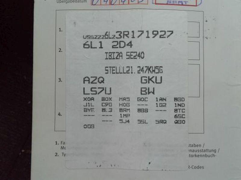 SEAT IBIZA IV (6L1) 1.2