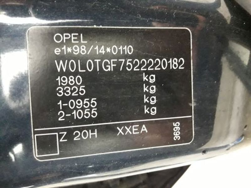 OPEL ZAFIRA A (F75_) 1.8 16V