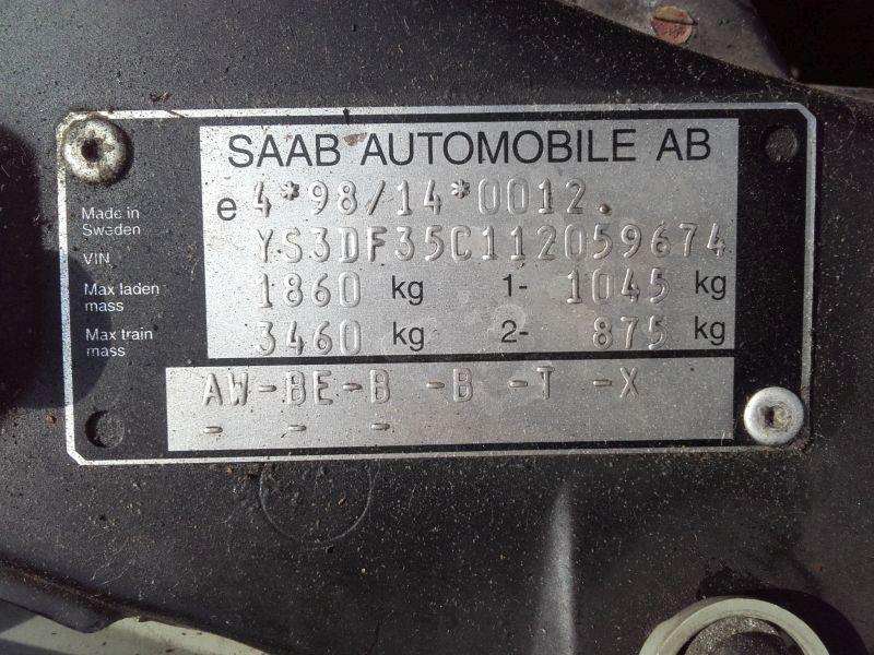 SAAB 9-3 (YS3D) 2.0 TURBO
